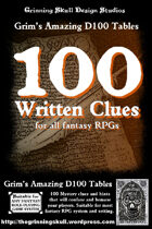 100 Written Clues for all fantasy RPGs