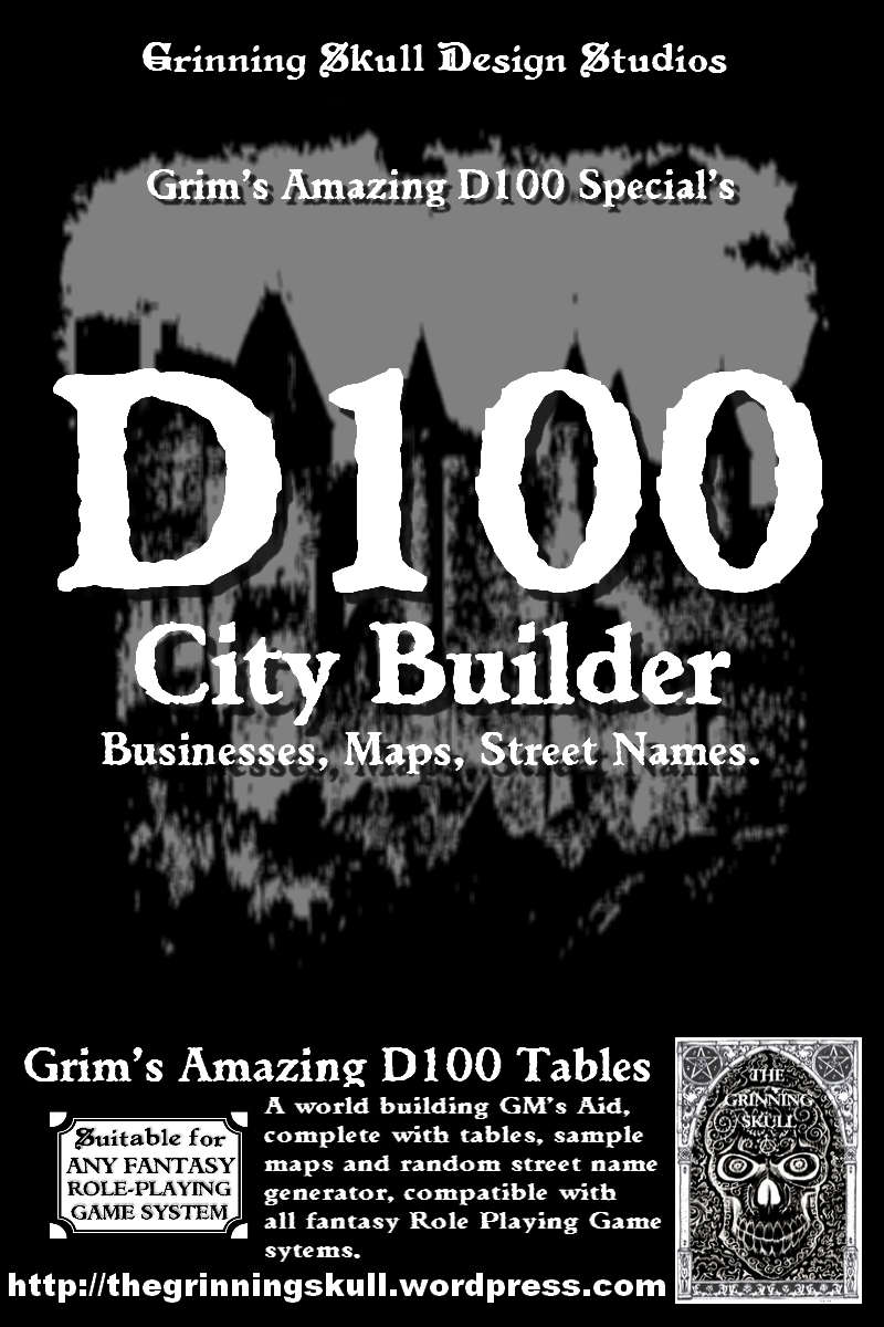 Grim's D100 Special's: D100 City Builder for all fantasy