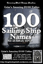 100 Sailing Ship Names for all fantasy RPGs