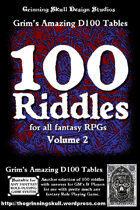 100 Riddles for all fantasy RPGs Volume 2