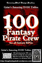 100 Fantasy Pirate Crew for all fantasy RPGs