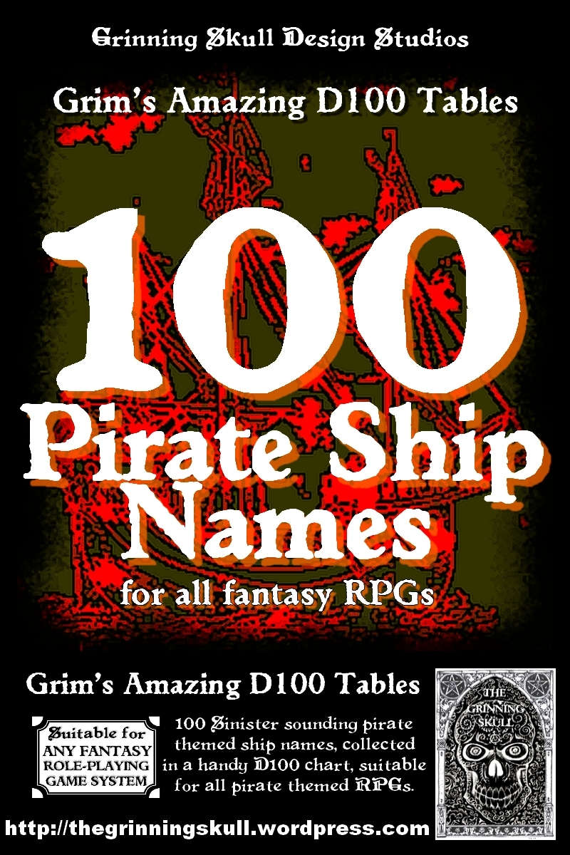 100 Pirate Ship Names for all fantasy RPGs - Grinning Skull Studios