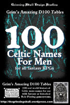 100 Celtic Names for Men for all fantasy RPGs