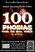 100 Phobias from the real world for all RPGs