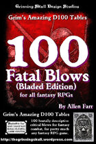 100 Fatal Blows (Bladed Edition) for all fantasy RPGs