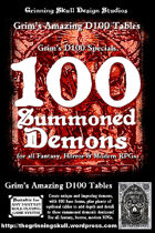 100 Summoned Demons for all fantasy, horror & modern RPGs