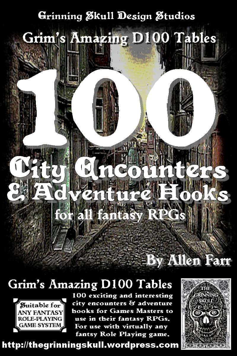 100 City Encounters & Adventure Hooks for all fantasy RPGs