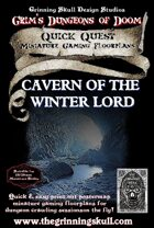 Quick Quests Miniature Gaming Floorplans: Caverns of the Winter Lord Poster Map