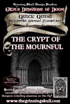 Quick Quests Miniature Gaming Floorplans: The Crypt of the Mournful Poster Map