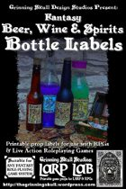 LARP LAB: Fantasy Beer, Wine & Spirits Bottle Labels