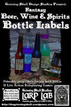 LARP LAB: Fantasy Beer, Wine & Spirits Bottle Labels