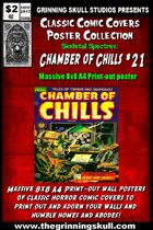 Classic Comic Covers Posters: Skeletal Spectres 8x8: Chamber of Chills #21