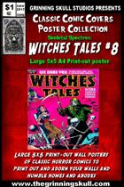 Classic Comic Covers Posters: Skeletal Spectres 5x5: Witches Tales #8