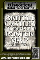 Grinning Skull's Historical Reference Series: British Castles Floorplan Poster Map Collection 1