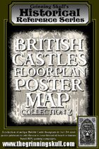 Grinning Skull's Historical Reference Series: British Castles Floorplan Poster Map Collection 2