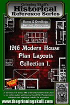 Grinning Skull's Historical reference series: 1916 Modern House Plans Layout Collection 1
