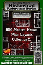 Grinning Skull's Historical reference series: 1916 Modern House Plans Layout Collection 2