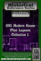 Grinning Skull's Historical reference series: 1910 Modern House Plans Layout Collection 1