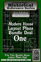 Modern House Layout Plans Bundle One.  [BUNDLE]