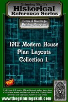 Grinning Skull's Historical reference series: 1912 Modern House Plans Layout Collection 1