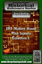 Grinning Skull's Historical reference series: 1915 Modern House Plans Layout Collection 1