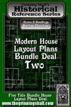 Modern House Layout Plans Bundle Two. [BUNDLE]