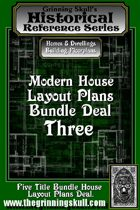 Modern House Layout Plans Bundle Three. [BUNDLE]