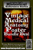 Vintage Medical Anatomy Posters Bundle Deal [BUNDLE]
