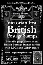 Victorian Era British postage Stamps, printable props