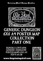 Olde Skool Back2basics Dungeon Poster Maps Collection 1 [BUNDLE]