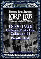 LARP LAB: 1879-1926 Catalog & Price list collection #1 [BUNDLE]