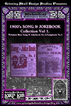 LARP LAB Historical Reference: 1900s Song & Jokebook collection Vol.1