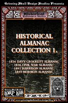 LARP LAB: Historical Reference: Almanac Collection 1. [BUNDLE]