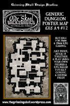 Olde Skool, Back2basics Giant 6x6 A4, Dungeon Poster Map #12