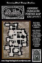 Olde Skool, Back2basics Giant 6x6 A4, Dungeon Poster Map #13