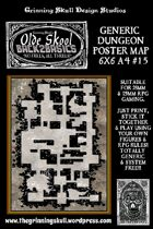 Olde Skool, Back2basics Giant 6x6 A4, Dungeon Poster Map #15
