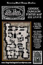Olde Skool, Back2basics Giant 6x6 A4, Dungeon Poster Map #18