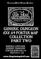 Olde Skool Back2basics Dungeon Poster Maps Collection 2 [BUNDLE]