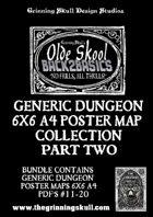 Olde Skool Back2basics Dungeon Poster Maps Collection 2 [BUNDLE]