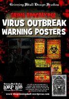 LARP LAB: Grim's Apocalypse: Virus Outbreak Warning Posters #1