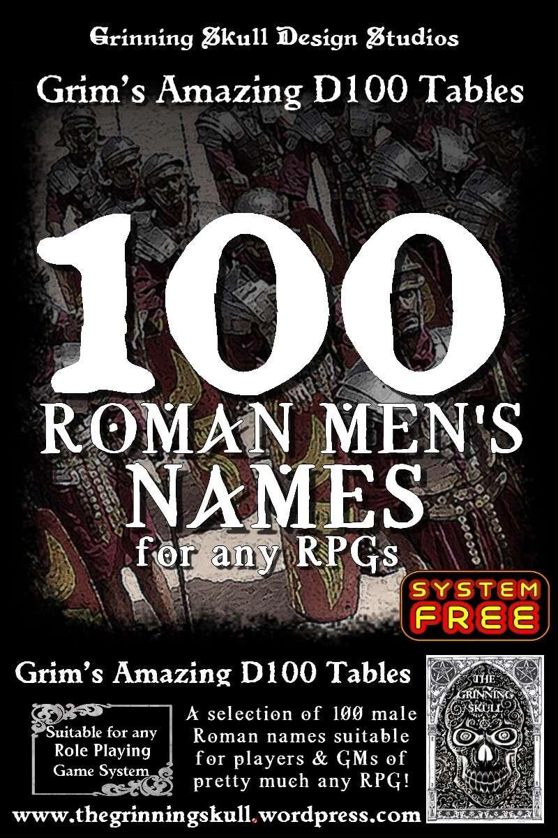 100 Roman Men's Names for any RPGs - Grinning Skull ...