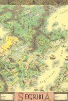 Hand Drawn Fantasy Map of Segridia A1 size