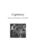 Captaincy Errata 7/16