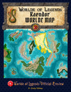 Worlde of Legends™ Campaign Worlde Map - Kaendor