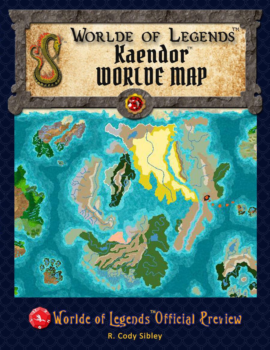 Worlde of Legends™ Campaign Worlde Map - Kaendor