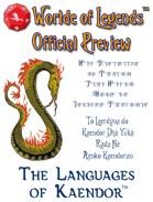 Worlde of Legends™ Preview - Languages of Kaendor™