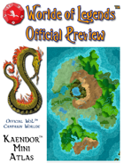 Worlde of Legends™ Campaign Worlde - Kaendor Mini-Atlas