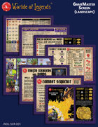 Worlde of Legends™ LITE GameMaster Screen Inserts (Landscape)