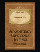 Worlde of Legends™ Adventurer's Experience Journal