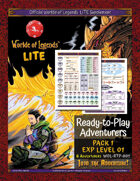 Worlde of Legends™ Ready-to-Play Adventuers Pack 1 (Exp Lvl 01)